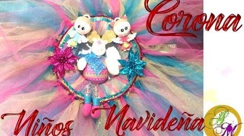 ♥ Corona Navideña – Corona de Tulle para niños - DIY