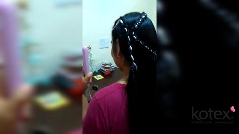 Maximizando mi peinado con Kotex #MAXImízate