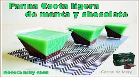 Panna Coota ligera de Menta y Chocolate #RecetasParaDummies
