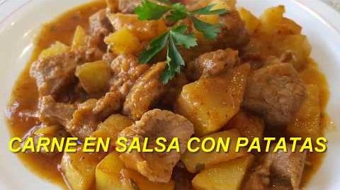 Carne en salsa con patatas |Cocina con Rock . #RecetasParaDummies
