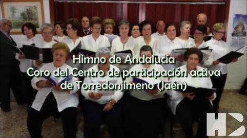 Himno Andalucia. Coro del Centro de Participacion Activa, Torredonjimeno #28f