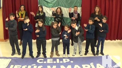 Himno Andalucia L. signos. CEIP JESUS-MARIA. #28f