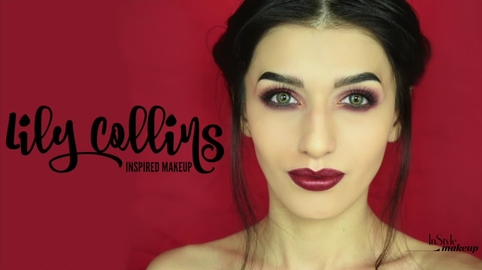 Maquillaje inspirado en Lily Collins.♥ #Instyle Makeup