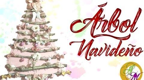 ♥ Adorno Navideño – Árbol de navidad con Troncos - DIY #TutorialesNavideños