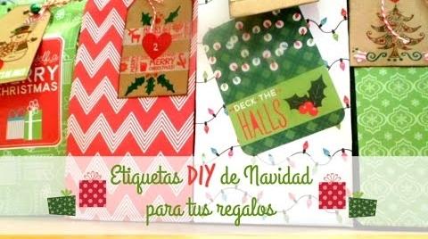 Manualidades: 3 ideas para decorar tus etiquetas de regalo DIY #TutorialesNavideños