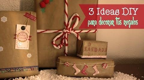 Manualidades: 3 ideas DIY para decorar tus regalos de Navidad #TutorialesNavideños