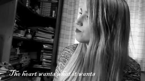 The Heart wants what it wants, acoustic cover, subtítulos al español