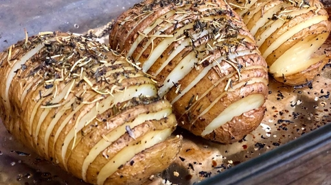 Patatas al horno..., estilo Hasselback