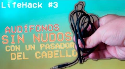 AUDÍFONOS SIN NUDOS CON UN PASADOR DEL CABELLO - LifeHack #IdeasConPremio