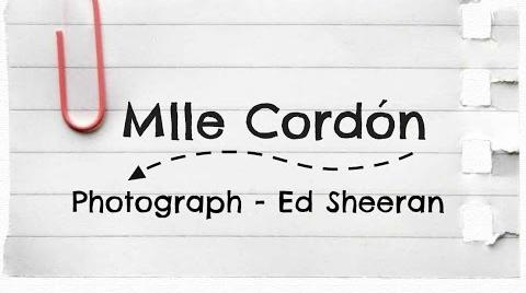 Photograph - Ed Sheeran (Cover by MlleCordón)