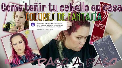 COMO TEÑIR TU CABELLO CON COLORES DE FANTASIA FACIL EN CASA • PASO A PASO   MAQUILLAJE A LA MEXICANA ##FashionTip