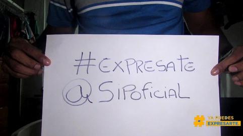 Por un mundo mejor levanto tu voz  y exprésate #expresate