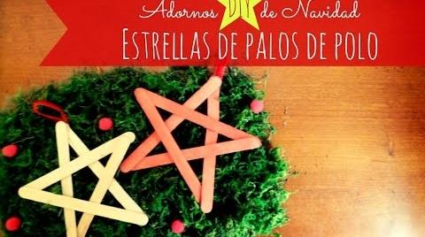 Manualidades: Adorno DIY de Navidad, estrellas con palos de polo #TutorialesNavideños