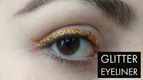 DIY : Delineado con Glitter ( TUTORIAL) ##FashionTip
