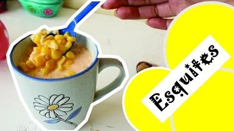 Esquite (chascas) en 15 minutos con granos de lata ♥Angy #RecetasParaDummies