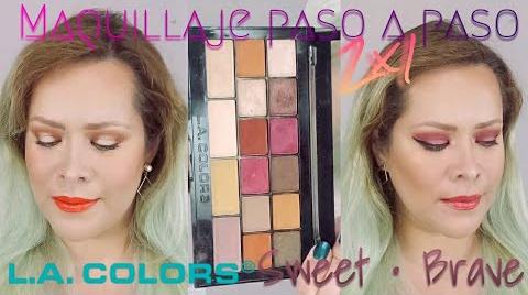 2 MAQUILLAJES PASO A PASO CON 1 PALETA ~ LA COLORS SWEET • BRAVE   MAQUILLAJE A LA MEXICANA ##FashionTip